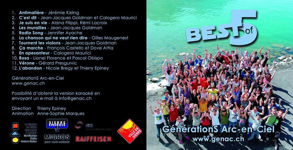 Pochette CD Concert Best of 5