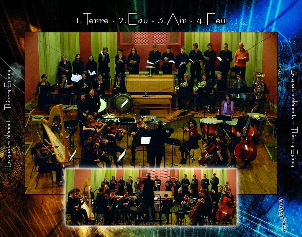 Pochette CD Les 4 Elements (dos)