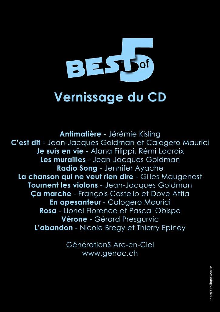 Flyer Concert Best of 5 (verso)