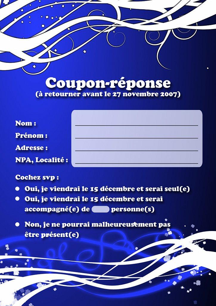 Coupon réponse CPM (recto)