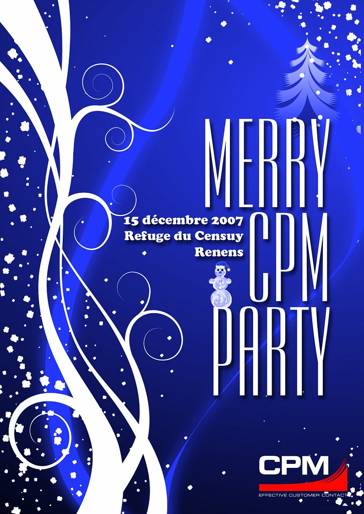 Flyer Invitation CPM Party (recto)