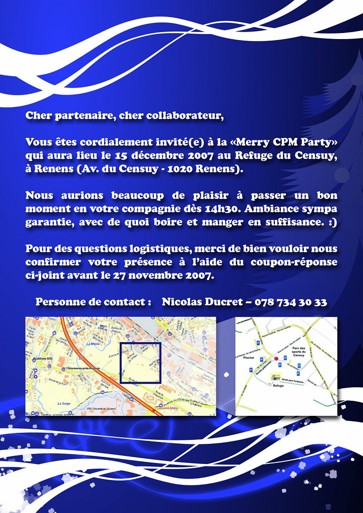 Flyer Invitation CPM Party (verso)