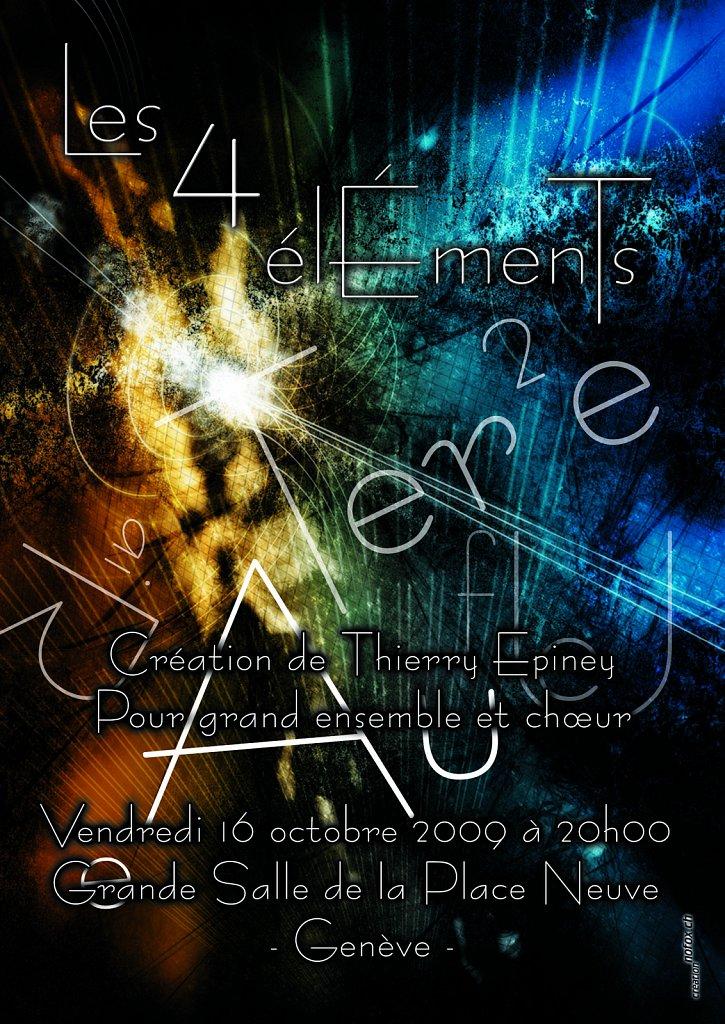 Flyer Les 4 Elements (verso)